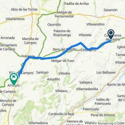 Unnamed Road, Castellanos de Castro to Avenida del General D Luis Peral 34, Amusco