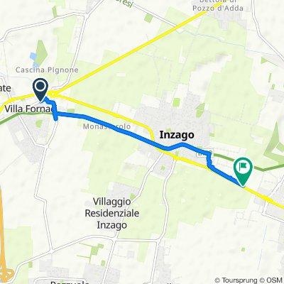 Da Padana Superiore Via Dell'Artigianato (Gessate), Bellinzago Lombardo a Via Padana Superiore 171, Inzago