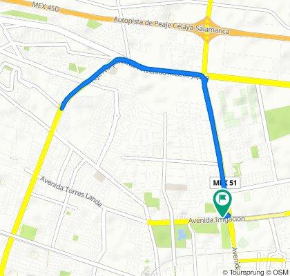 De Avenida Juan José Torres Landa 103a, Celaya a Avenida Juan José Torres Landa 103, Celaya