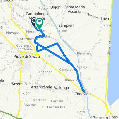 Da Via Lago di Misurina 14/A, Campolongo Maggiore a Via Righe 15, Campolongo Maggiore