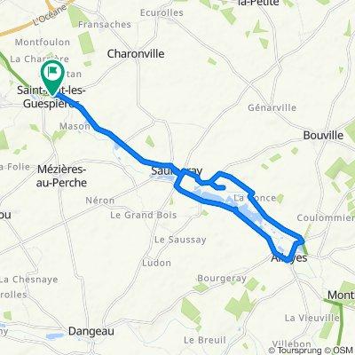 31 Rue Grande, Saint-Avit-les-Guespières to 31 Rue Grande, Saint-Avit-les-Guespières