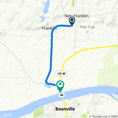 Katy Trail, New Franklin to Katy Trail, New Franklin