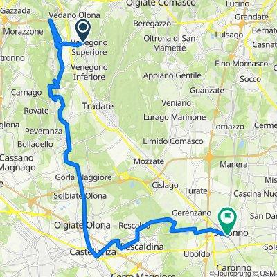 Da Via Baracca 7, Venegono Superiore a Via Molino 14, Saronno