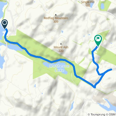 Route to 4975 Deer Park Trail, Metchosin