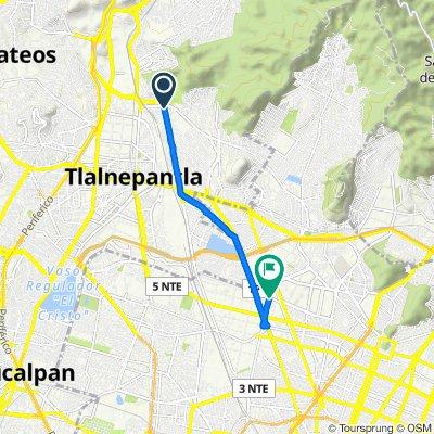 De Avenida Jesús Reyes Heroles 10, Tlalnepantla de Baz a Norte 35 15A, Ciudad de México
