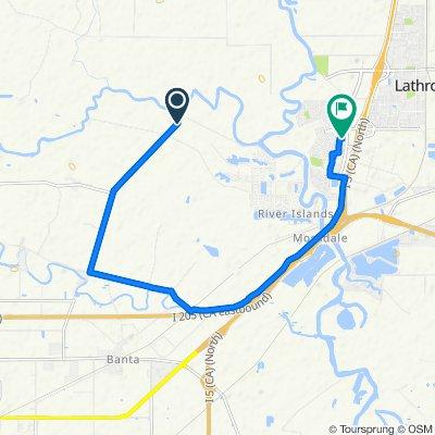 16412 Paradise Ave, Lathrop to 16737 Lorina Ct, Lathrop