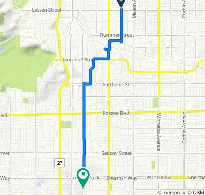 9901–9909 Lurline Ave, Los Angeles to 7034–7042 Canoga Ave, Los Angeles