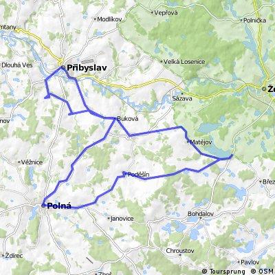 Přibyslav - Jablonné - Polná - Nové Veselí - Nížkov - Přibyslav