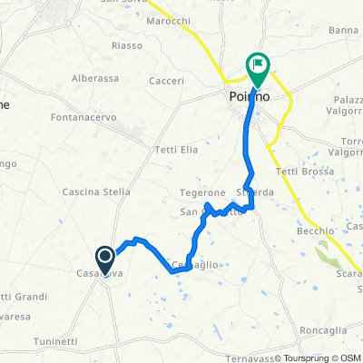 Da Via Serravalle 1, Casanova a Via Cavour 44/C, Poirino