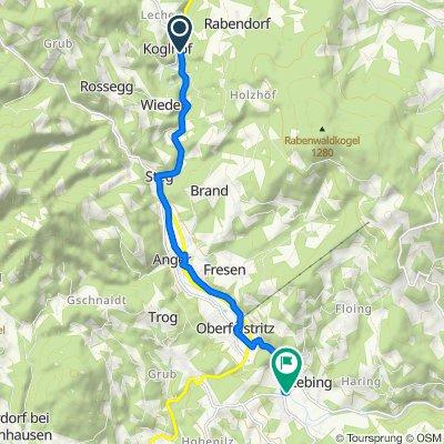 Kontrollstrecke Feistritztal Koglhof Unterfeistritz