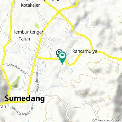 Jalan Tegal Sari No.82, Kecamatan Sumedang Utara to Jalan Sebelas April 92, Kecamatan Sumedang Utara