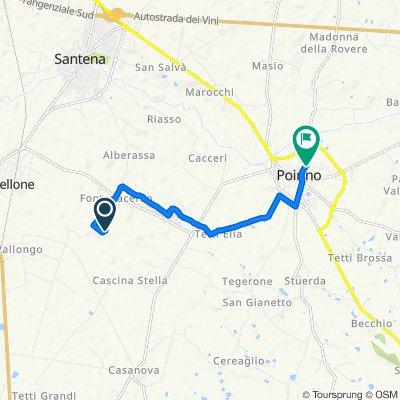 Percorso per Via Cavour 44/A, Poirino