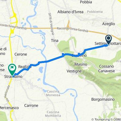 Da Via Selva 4, Settimo Rottaro a Via Cotonificio 35A, Strambino