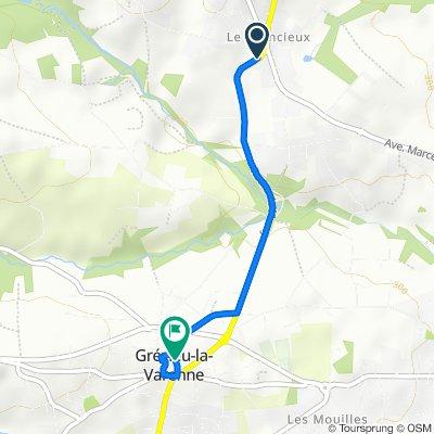 De 9 Route de Grézieu-la-Varenne, Sainte-Consorce à 4 Rue de l'Artisanat, Grézieu-la-Varenne