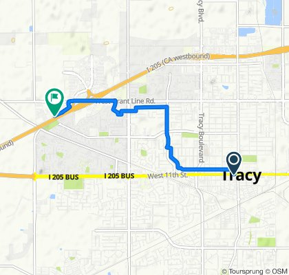 101 W 11th St, Tracy to 3010 W Grant Line Rd, Tracy