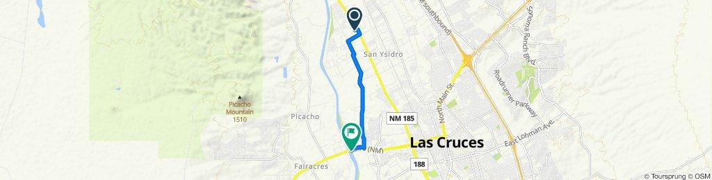 1417 Sue Ct, Las Cruces to W Picacho Ave, Las Cruces