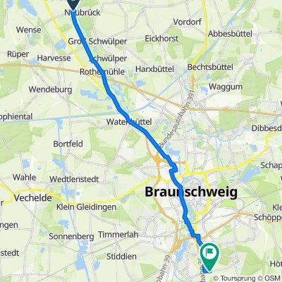 Kirchweg 1, Wendeburg nach Stöckheimstraße, Braunschweig