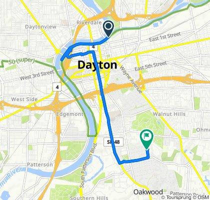 405 Water St, Dayton to 2006 Evanston Ave, Dayton
