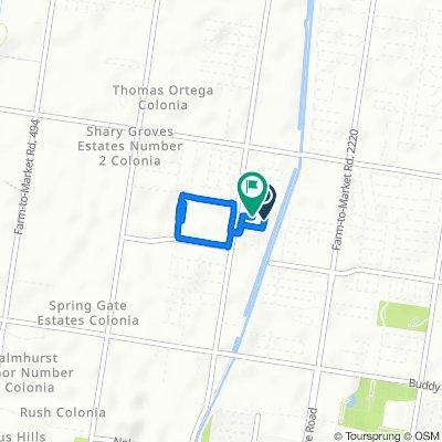 4201 Goldcrest Ave, McAllen to 4220 Goldcrest Ave, McAllen