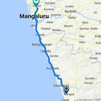 Kasaragod - Kannur Road, Kalnad to Renjala, Mangalore