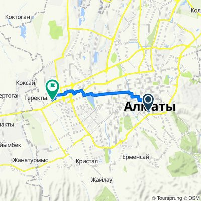 От улица Желтоксан 191, Алматы до Кооператив собственников квартир, Алматы
