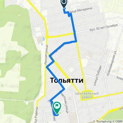 маршрут с Пугачевская улица 40, Тольятти