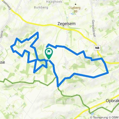 Zegelsem : Vuursalamander- en Eikelmuisroute 14 km of 2 x 7 km