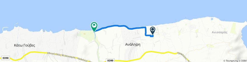 Running route Lyttos Test-Triathlon