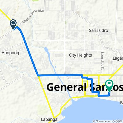 General Santos City Circumferential Road to Asai Street, General Santos City