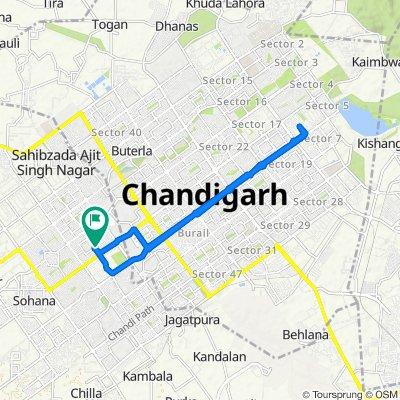 Sahibzada Ajit Singh Nagar to Mohali Stadium Road 541, Sahibzada Ajit Singh Nagar