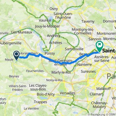 De 3 Rue Saint-Clair, Herbeville à 21 Avenue de l'Égalité, Asnières-sur-Seine
