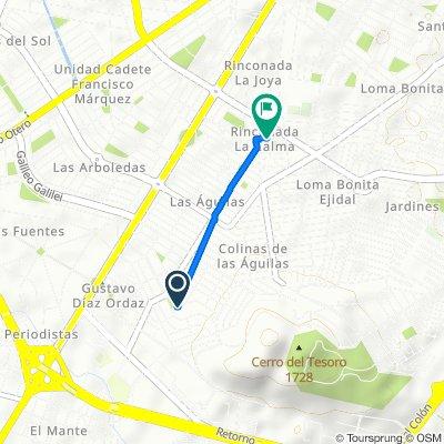 De Avenida del Pinar 3050, Zapopan a Calle Sierra de Quila 1779, Zapopan