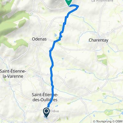 De 562 Route du Darroux, Saint-Etienne-des-Oullières à 1802 Route du Mont Brouilly, Odenas