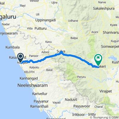 Kasaragod - Kannur Road, Kalnad to Bus Stand Road, Madikeri