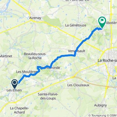 46 Rue de Nantes, Saint-Georges-de-Pointindoux to 134 Allée des Châtaigniers, Mouilleron-le-Captif