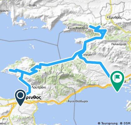 Κόρινθος - Λίμνη - Ψάθα - Κιθαιρώνας - Μέγαρα