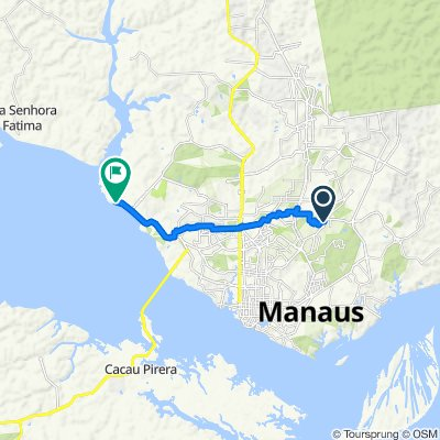 Route from Rua IV, 105, Manaus