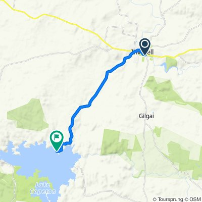 Inverell to Northern Foreshores Copeton Dam