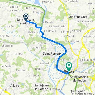 De Place de la Mairie 10, Saint-Vincent-sur-Oust à Place Saint-Sauveur 18, Redon