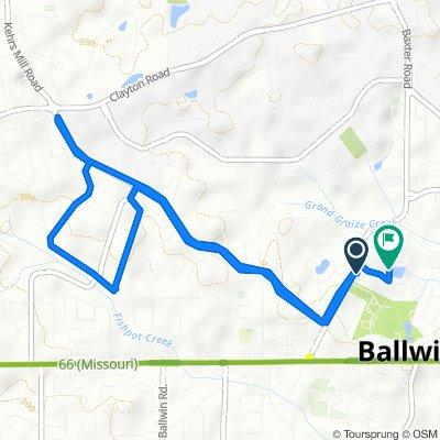 216 Gilla Dr, Ballwin to 280 Brite Star Ct, Ballwin