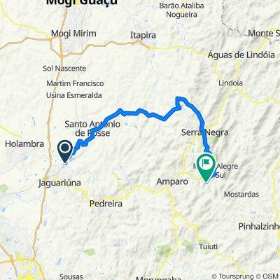 Jaguariuna a Monte Alegre - pela terra