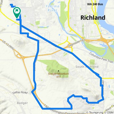 South Richland via Keene up Reata, back on Dallas