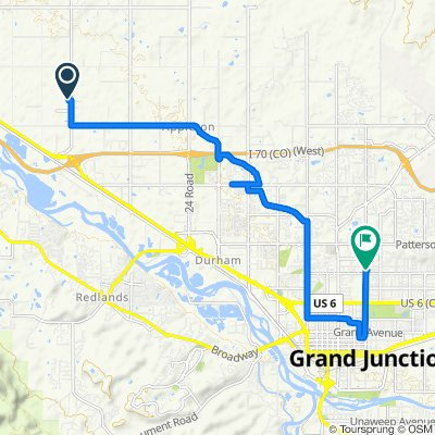 22 Road 845, Grand Junction to North 12th Street 1960, Grand Junction
