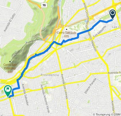 De Rosario Norte 555, Las Condes a Viollier 34, Santiago