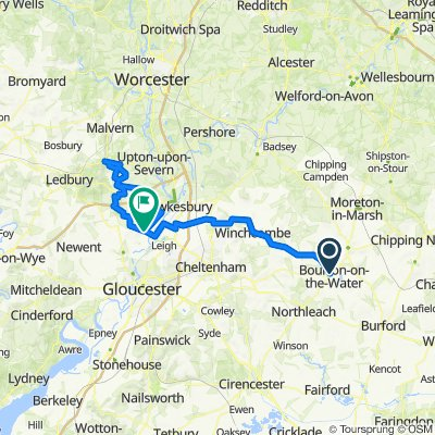 Cotswold loop based on Bourton start