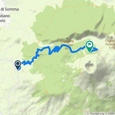 Via Vesuvio 73, Ercolano nach Piazzale di Quota 1000 30, Ercolano