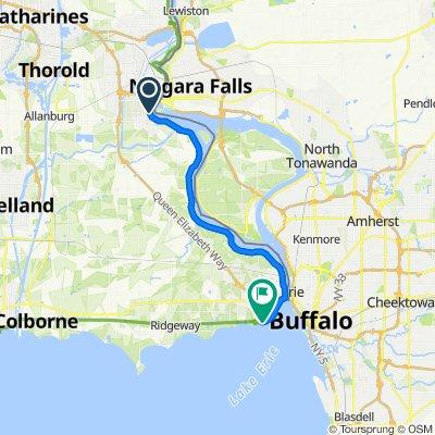 Niagara Fall to Waverly beach park Fort Erie