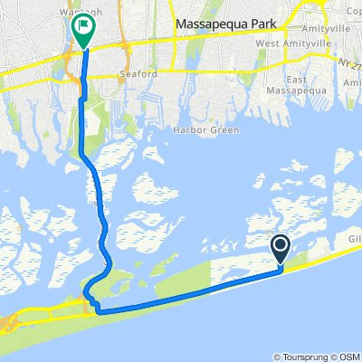 Route to 3264 Railroad Ave, Wantagh