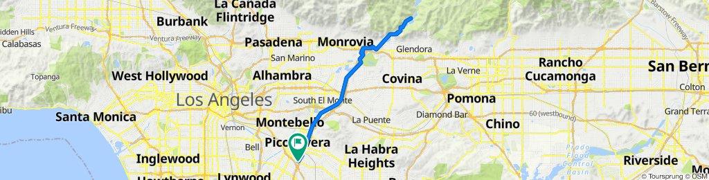Downey to SGV Road & Climb