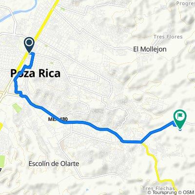 Ruta desde Calle Pozo 13 106B, Poza Rica de Hidalgo